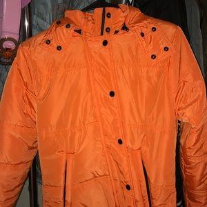 Neon Orange F21 Puff Jacket